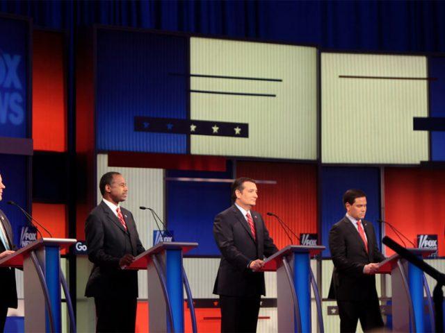 Republikanische TV-Debatte 2016 in Iowa.