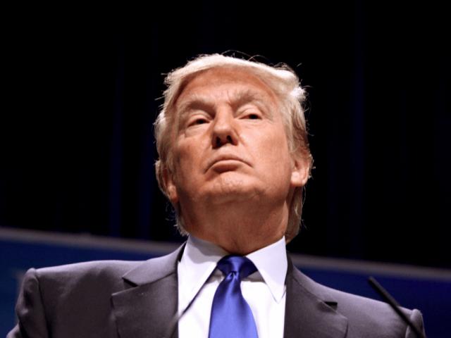 Präsident Donald Trump hält eine Rede in Washington, D.C.