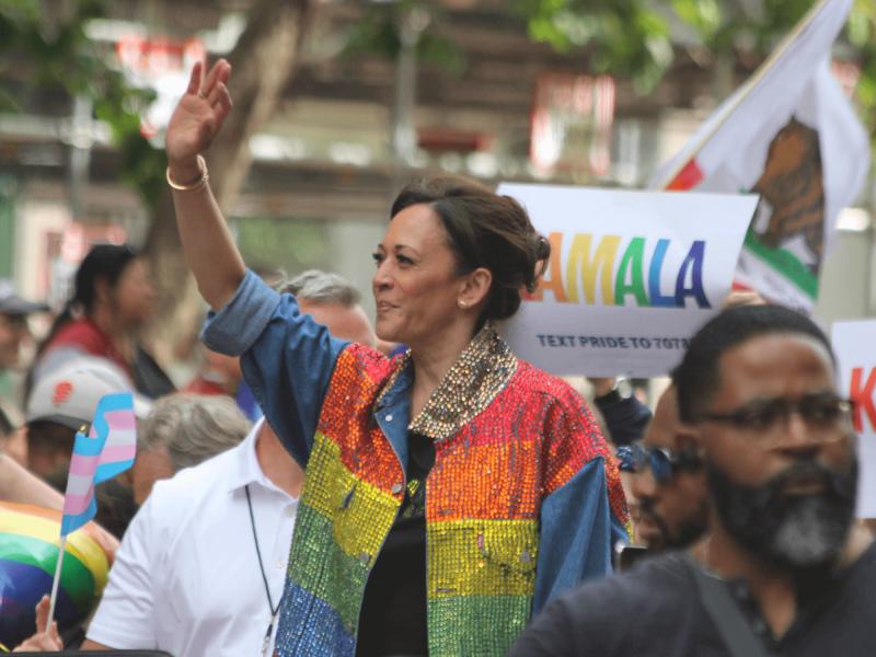 Harris bei der San Francisco Pride 2019.