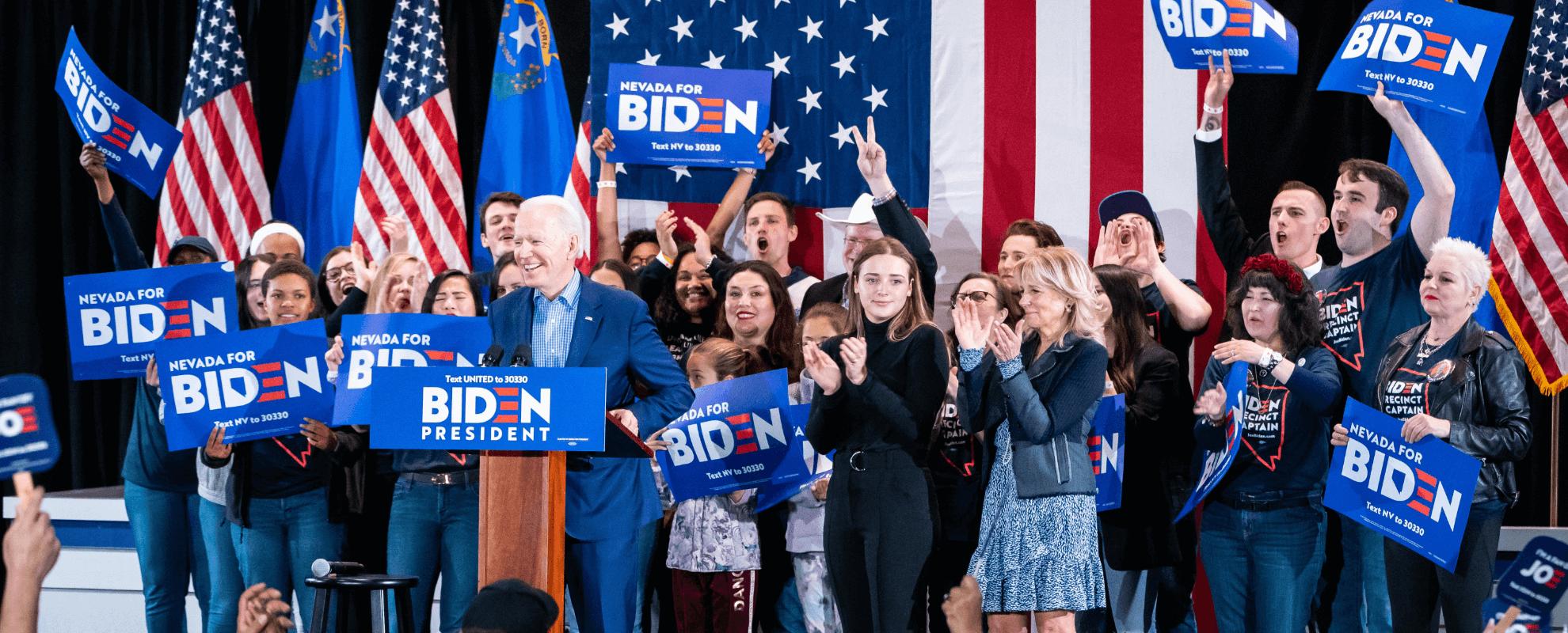 Joe Biden bei einer Wahlkampfveranstaltung in Nevada.