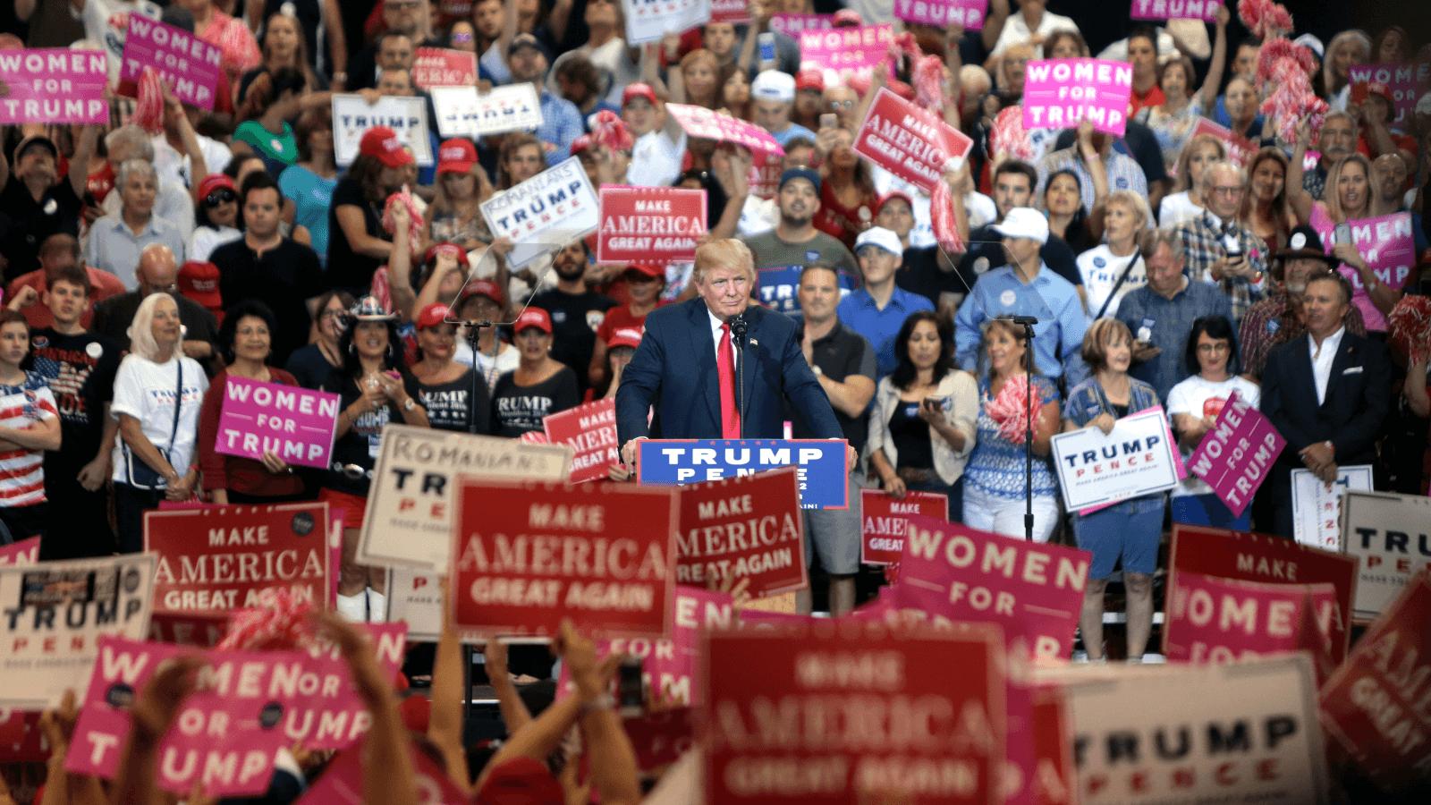 Donald Trump bei einer Wahlveranstaltung in Arizona.