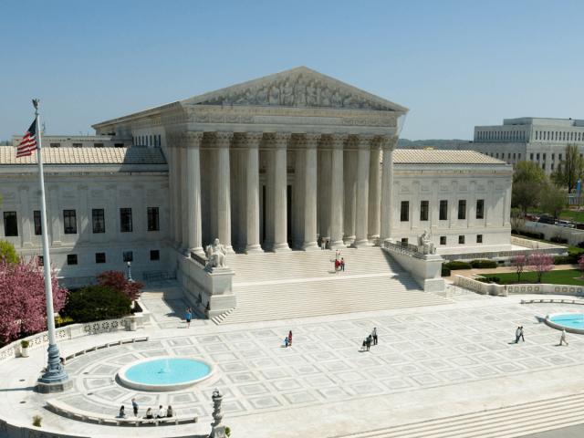 Der oberste Gerichtshof der Vereinigten Staaten in Washington, D.C.