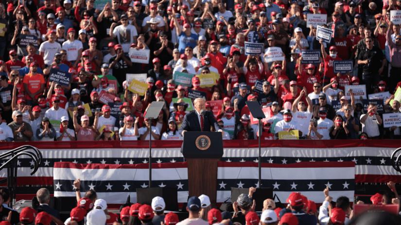 Donald Trump bei einer Wahlkampfveranstaltung in Phoenix, Arizona.