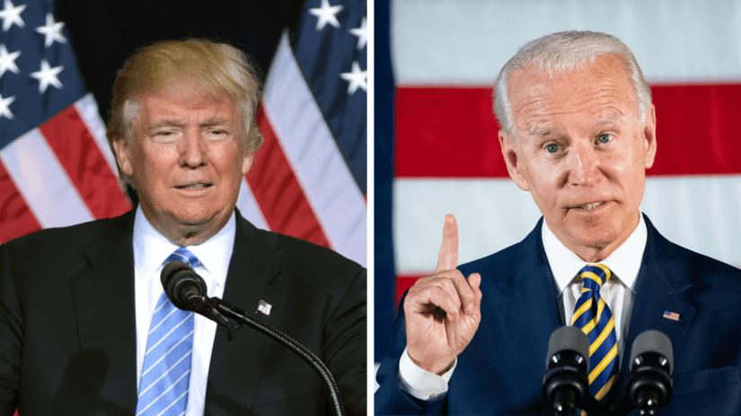 Donald Trump und Joe Biden treffen bei der Präsidentschaftswahl 2020 aufeinander.