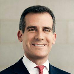 Portrait des Bürgermeisters von Los Angeles Eric Garcetti.