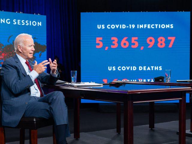 Joe Biden und Kamala Harris erhalten ihr erstes COVID-19-Briefing.