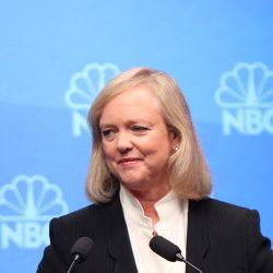 Meg Whitman bei einer TV-Debatte um den Gouverneursposten Kaliforniens.