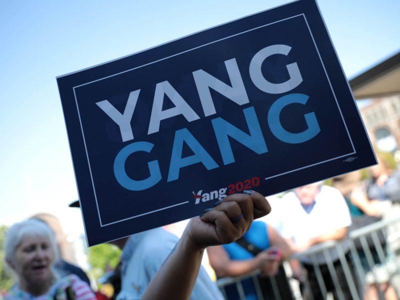 """""""Yang Gang"""": Yangs Unterstützer:innen werden auch bei der Bürgermeisterwahl eine entscheidende Rolle spielen."""