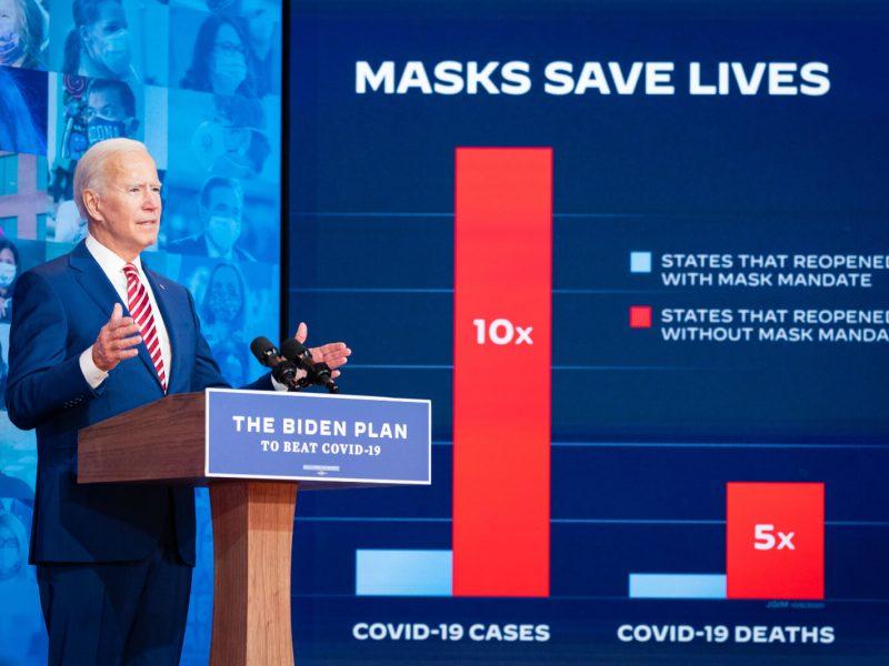 Joe Biden setzt auf Maskenpflicht – eine Kehrtwende zur Trump-Politik.