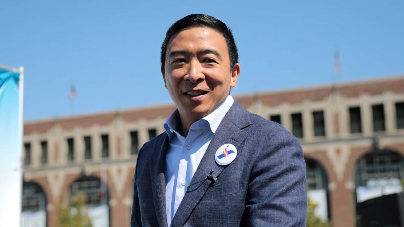 Andrew Yang beim Iowa State Fair 2019 in Des Moines, Iowa.
