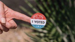 """""""I Voted""""-Sticker in Arizona vom Wahltag."""
