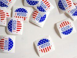 """""""I Voted""""-Sticker für den Wahltag."""