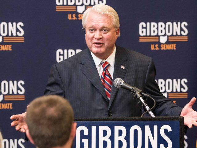 Mike Gibbons bei einer Wahlkampfveranstaltung für seine Senatskandidatur in Ohio 2018.