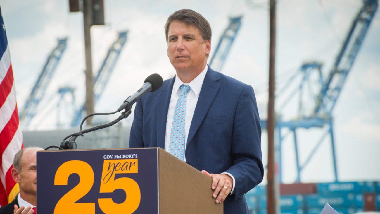 Pat McCrory bei einer Rede in North Carolina 2016.