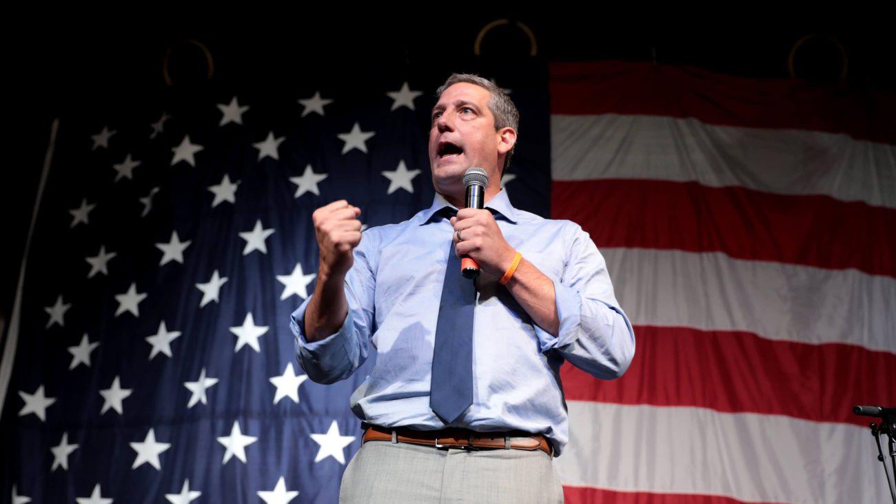 Tim Ryan hält 2019 eine Rede in Iowa.