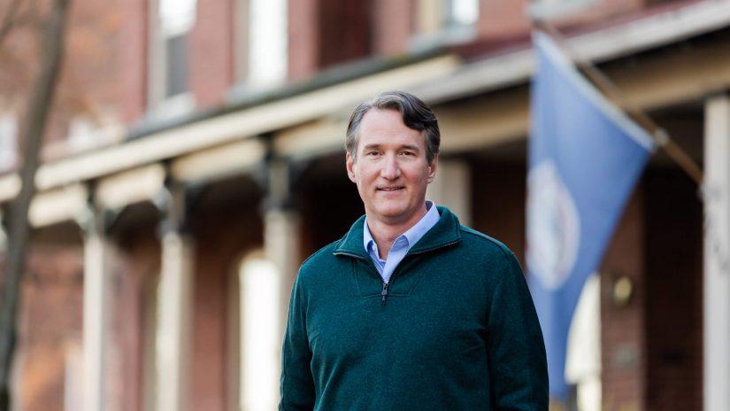 Glenn Youngkin während seines Gouverneurwahlkampfs in Virginia.